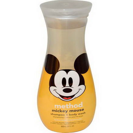 Method, Mickey Mouse Shampoo + Body Wash, Lemonade, 18 fl oz (532 ml)