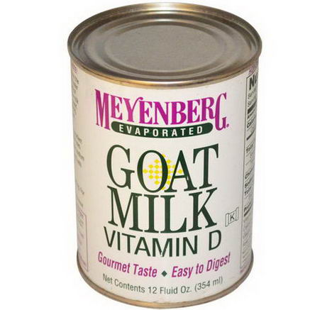Meyenberg Goat Milk, Evaporated Goat Milk, Vitamin D, 12 fl oz (354 ml)