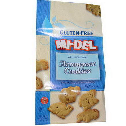Mi-Del Cookies, Arrowroot Cookies, Gluten Free, 8oz (227g)