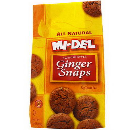 Mi-Del Cookies, Swedish Style Ginger Snaps, 10oz (284g)