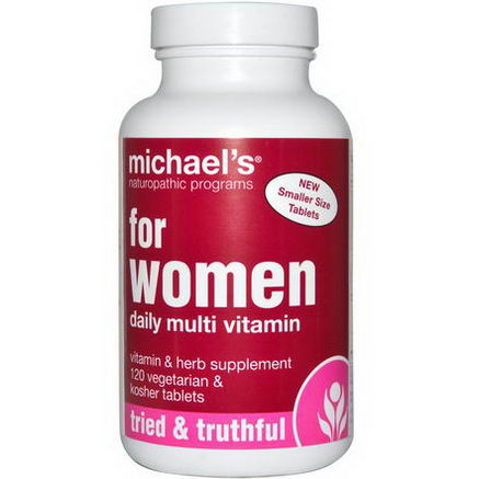 Michael's Naturopathic, For Women, Daily Multi-Vitamin, 120 Veggie Tabs