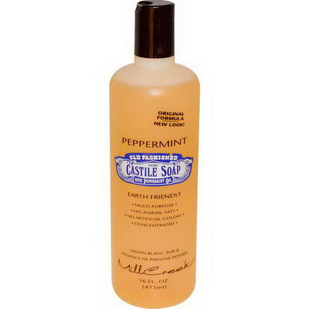 Mill Creek, Old Fashioned Pure Castile Soap, Peppermint, 16 fl oz (473 ml)