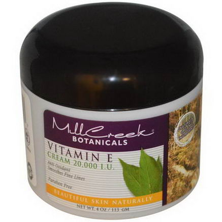 Mill Creek, Vitamin E Cream, 20, 000 IU, 4oz (113g)