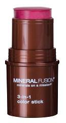 Mineral Fusion, 3-in-1 Color Stick, Berry Glow, 18oz (5.1g)