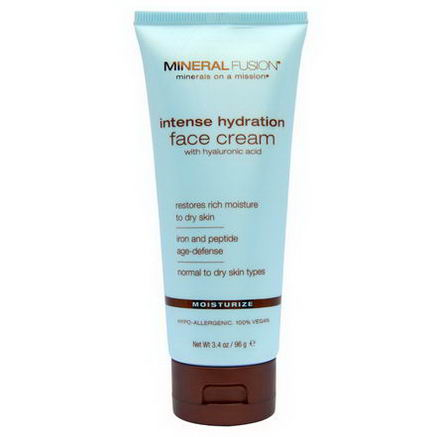 Mineral Fusion, Intense Hydration Face Cream, Moisturize, 3.4oz (96g)