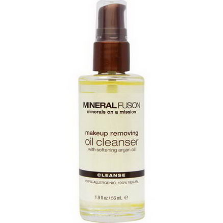 Mineral Fusion, Makeup Removing Oil Cleanser, Cleanse, All Skin Types, 1.9 fl oz (56 ml)
