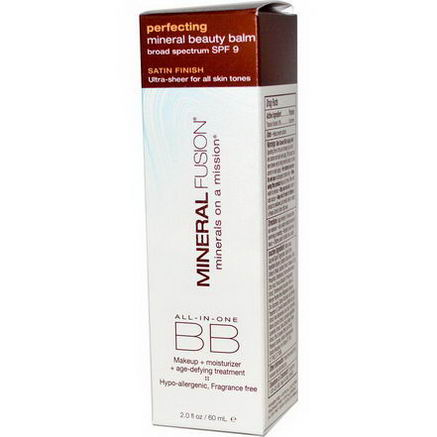 Mineral Fusion, Mineral Beauty Balm, Perfecting, SPF 9, 2.0oz (60 ml)