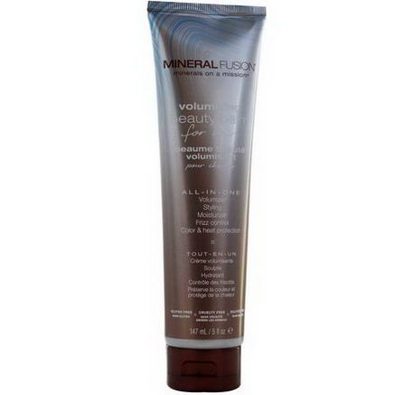 Mineral Fusion, Minerals on a Mission, Volumizing Beauty Balm for Hair, 5 fl oz (147 ml)