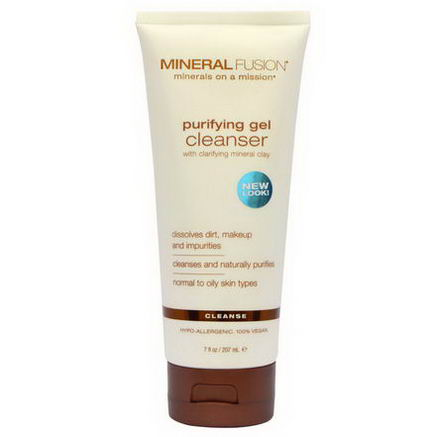 Mineral Fusion, Purifying Gel Cleanser, Cleanse, 7 fl oz (207 ml)