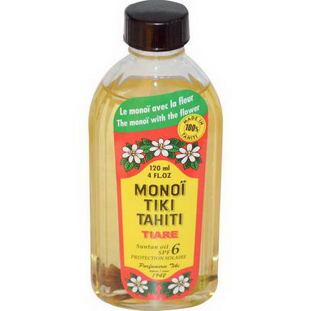 Monoi Tiare Tahiti, Suntan Oil SPF 6 Protection Solaire, 4 fl oz (120 ml)