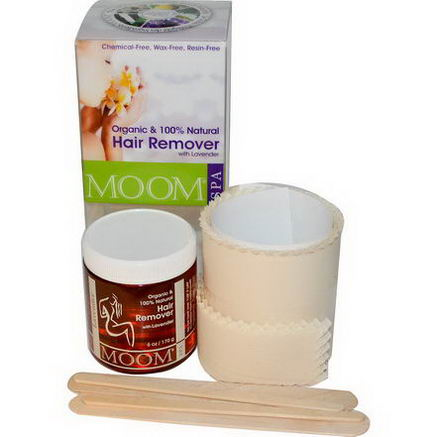Moom, Organic Hair Remover Kit, With Lavender, Spa, 6oz (170g)