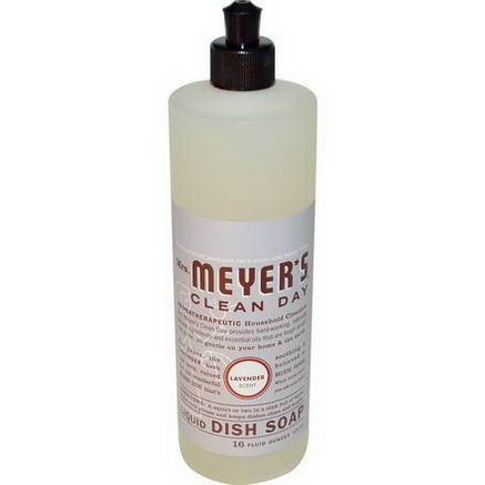 Mrs. Meyers Clean Day, Liquid Dish Soap, Lavender Scent, 16 fl oz (473 ml)