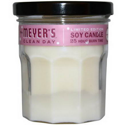 Mrs. Meyers Clean Day, Scented Soy Candle, Cranberry Scent, 4.9oz (140g)