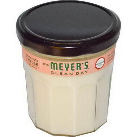 Mrs. Meyers Clean Day, Scented Soy Candle, Geranium Scent, 7.2oz