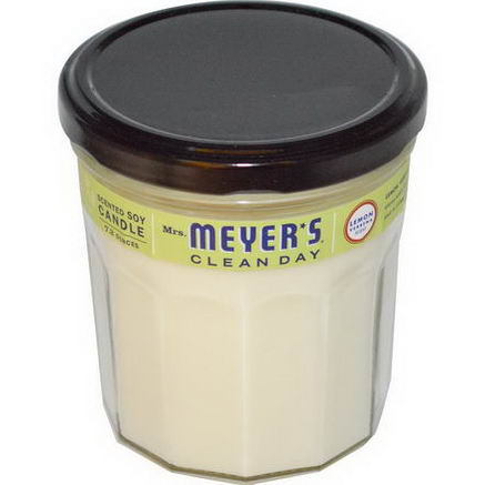 Mrs. Meyers Clean Day, Scented Soy Candle, Lemon Verbena Scent, 7.2oz