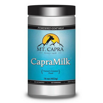 Mt. Capra, CapraMilk, Non-Fat Goat Milk Powder, 1 lb (453g)