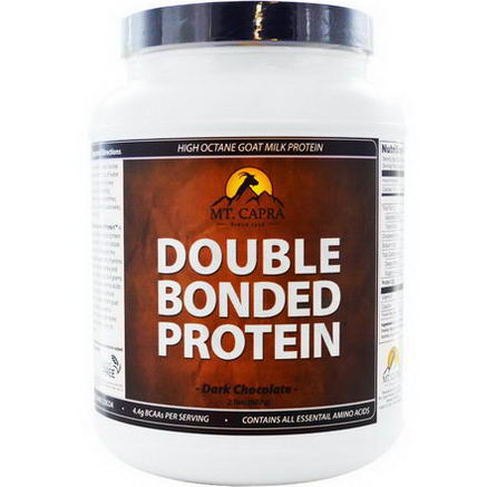 Mt. Capra, Double Bonded Protein, Goat Milk Protein, Dark Chocolate, 2 lb (907g)