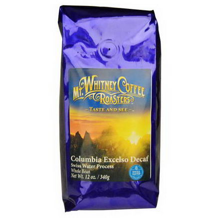 Mt. Whitney Coffee Roasters, Columbia Excelso Decaf, Whole Bean, 12oz (340g)