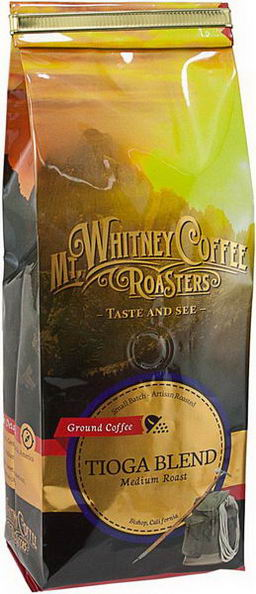 Mt. Whitney Coffee Roasters, Ground Coffee, Tioga Blend, Medium Roast, 12oz (340g)