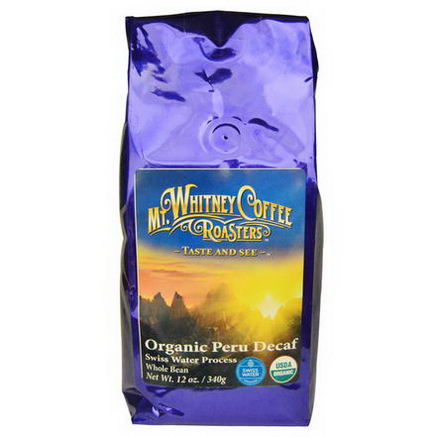 Mt. Whitney Coffee Roasters, Organic Peru Decaf, Whole Bean, 12oz (340g)