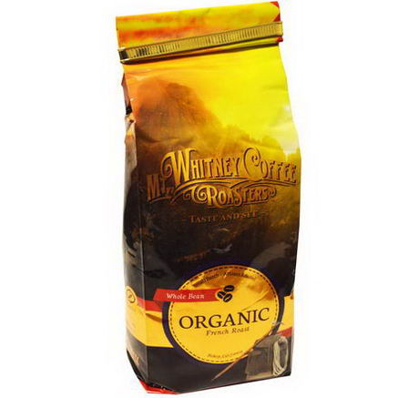 Mt. Whitney Coffee Roasters, Organic Whole Bean Coffee, French Roast, 12oz (340g)