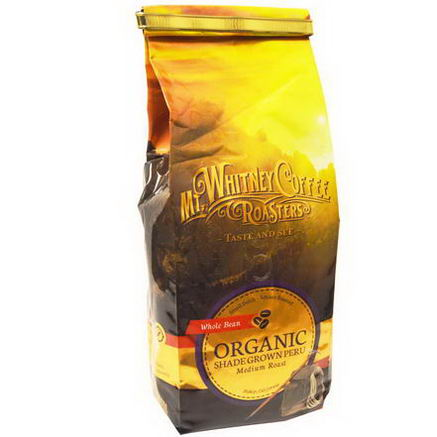 Mt. Whitney Coffee Roasters, Organic Whole Bean Coffee, Shade Grown Peru, Medium Roast, 12oz (340g)