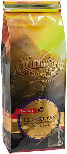 Mt. Whitney Coffee Roasters, Whole Bean Coffee, High Grown, Honduras Cristian Rodriquez, Medium Roast, 12oz (340g)