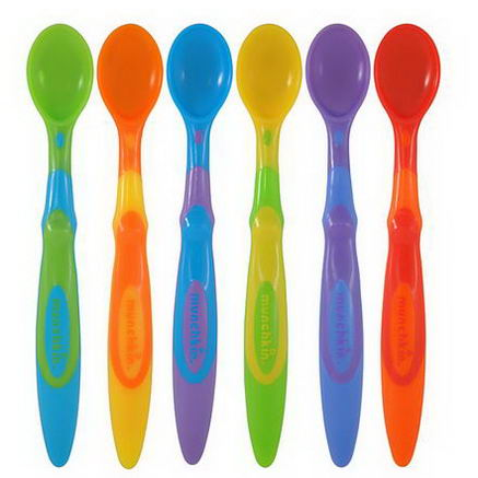 Munchkin, Soft-Tip Infant Spoons, 3+ Months, Six Pack