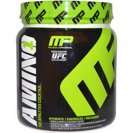 Muscle Pharm, Amino 1, The Athlete's Cocktail, Strawberry Margarita, 0.94 lbs (426g)