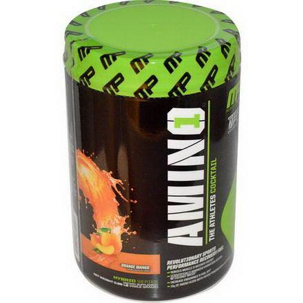 Muscle Pharm, Amino1, Revolutionary Sports Performance Recovery Fuel, Orange Mango, 0.96 lb (435.2g)