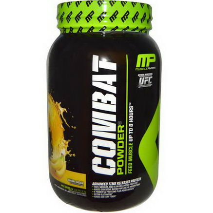 Muscle Pharm, Combat Powder, Advanced Time Released Protein, Banana Cream, 2 lbs (907g)