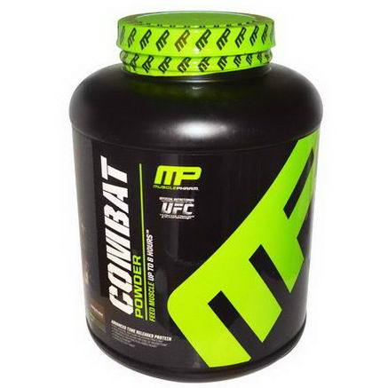 Muscle Pharm, Combat Powder, Advanced Time Released Protein, Chocolate Milk, 4 lbs (1814g)