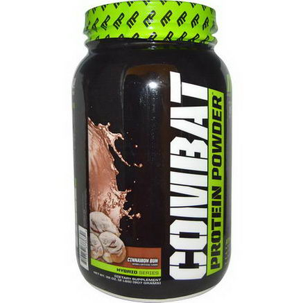 Muscle Pharm, Hybrid Series, Combat Protein Powder, Cinnamon Bun, 32oz (907g)