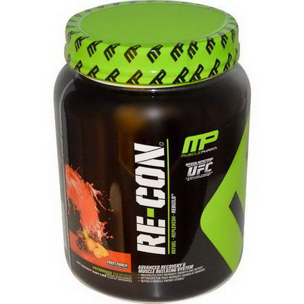 Muscle Pharm, Re~Con, Advanced Recovery & Muscle Building System, Fruit Punch, 2.64 lbs (1200g)