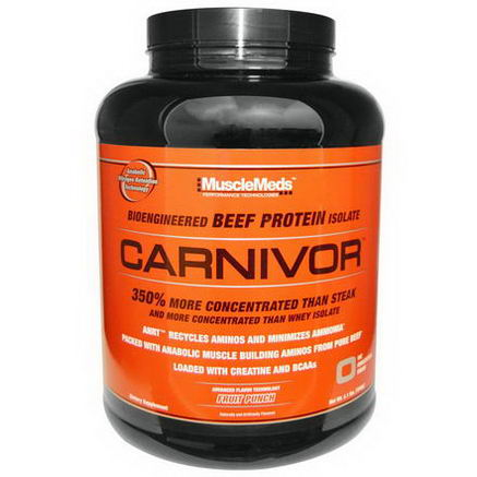 MuscleMeds, Carnivor, Beef Protein, Fruit Punch, 4.1 lbs (1848g)
