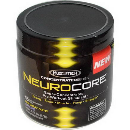 Muscletech, ConcentratedSeries, Neurocore, Super-Concentrated Pre-Workout Stimulant, Grape, 0.38 lbs (171g)