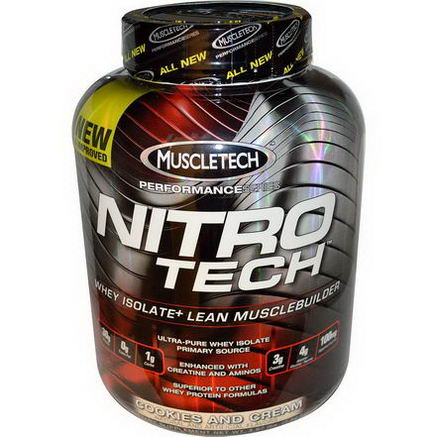 Muscletech nitro tech whey isolate lean musclebuilder cookies and cream lbs 1 8 kg - Nitro tech isolate ...