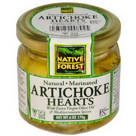 Native Forest, Natural Marinated, Artichoke Hearts, 6oz (170g)