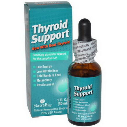 NatraBio, Thyroid Support, 1 fl oz (30 ml)