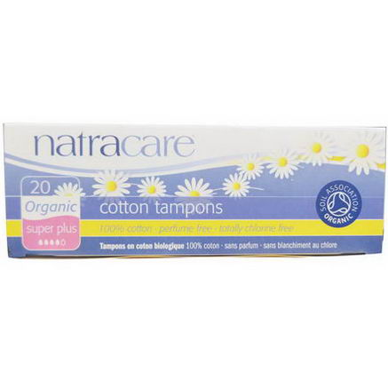 Natracare, Organic Cotton Tampons, Super Plus, 20 Tampons