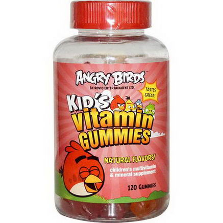 Natrol, Angry Birds Kid's Vitamin Gummies, 120 Gummies