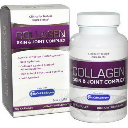 Natrol, Collagen, Skin & Joint Complex, 120 Capsules