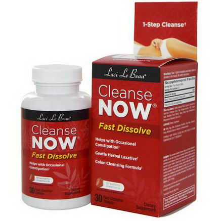 Natrol, Laci Le Beau, Cleanse Now, Strawberry Dreamsicle, 30 Fast Dissolve Tablets