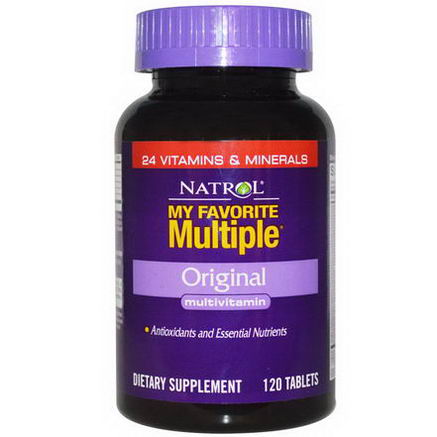 Natrol, My Favorite Multiple, Original Multivitamin, 120 Tablets