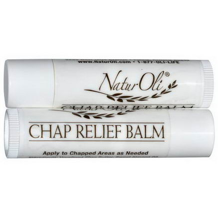 NaturOli, Chap Relief Balm, Peppermint, 2 Pack, 0.15oz Each
