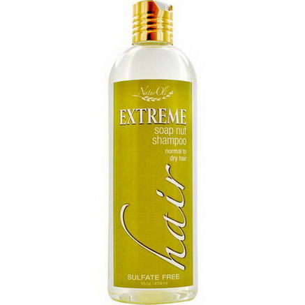 NaturOli, Extreme Soap Nut Shampoo, Normal to Dry Hair, 16oz (474 ml)