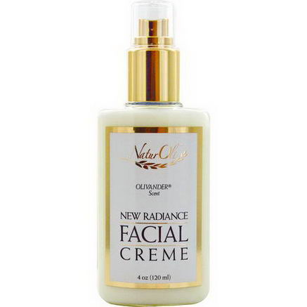 NaturOli, New Radiance, Facial Creme, Olivander Scent, 4oz (120 ml)