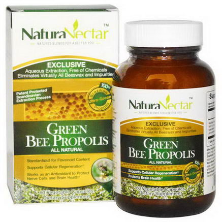 NaturaNectar, All Natural Green Bee Propolis, 60 Veggie Caps