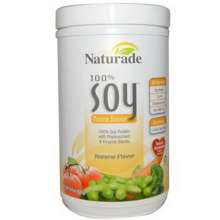 Naturade, 100% Soy Protein Booster, Natural Flavor, 14.8oz (420g)