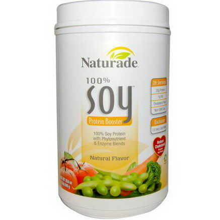 Naturade, 100% Soy Protein Booster, Natural Flavor, 29.6oz (840g)